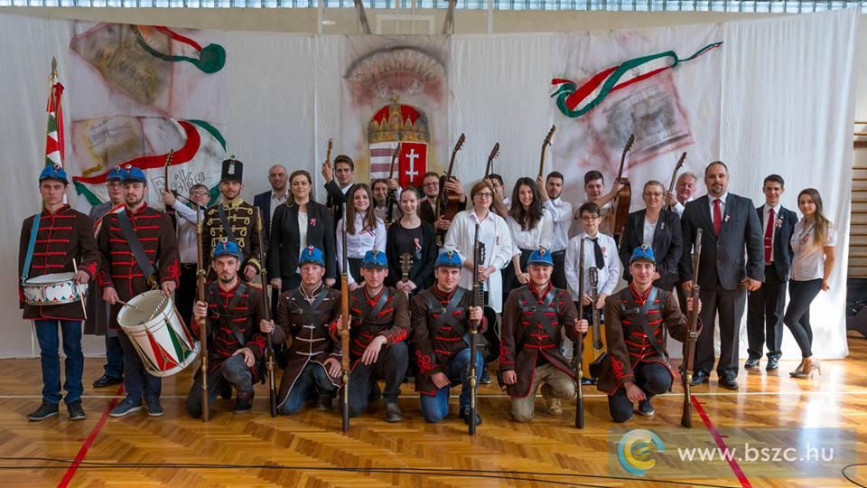 BSZC iskola tanulóival 1848-as ünnepség - 2017.03.15.