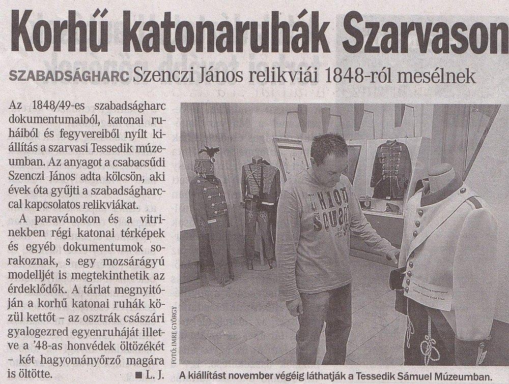 Békés Megyei Hírlap 2012. november 6.