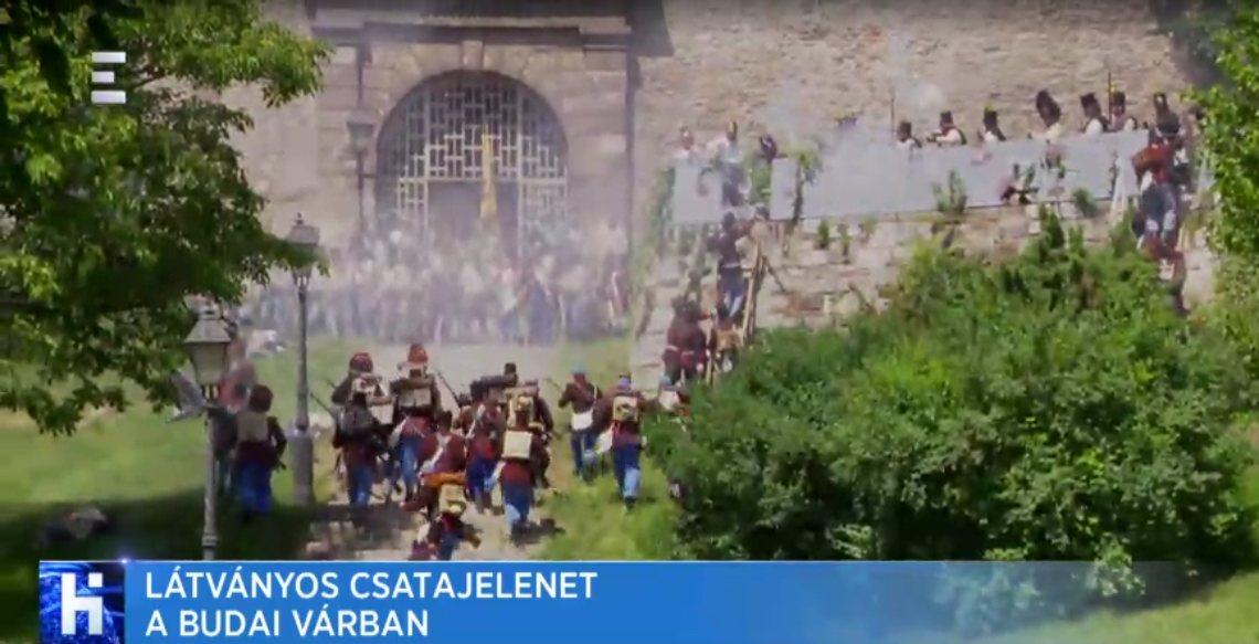 Látványos csatajelenet a Budai várban - 2018. 05. 21.
