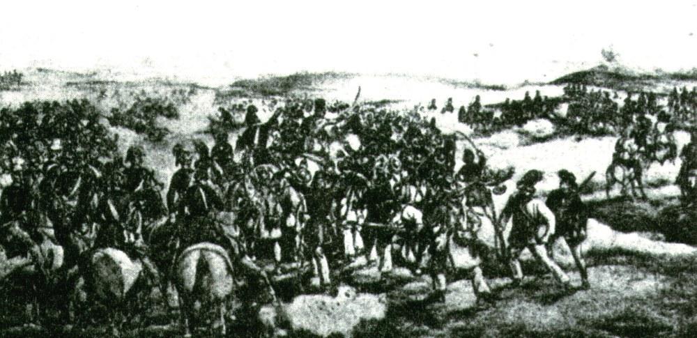 Az 1849. július 14-i hegyesi ütközet, melyben kitüntette magát a 30. honvédzászlóalj
